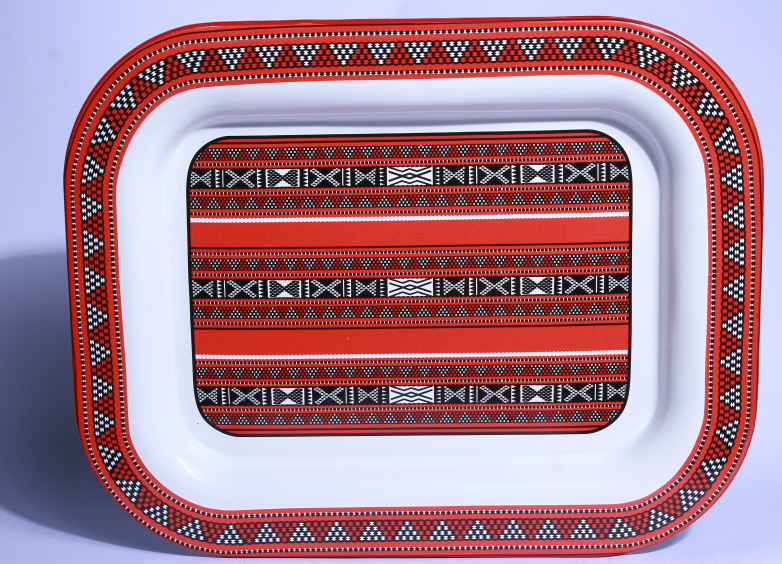 Middeast Squary Tray with deco to middeast country
