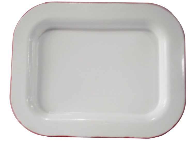 Shanghai silu supply enamel squary tray without deco  to middeast country