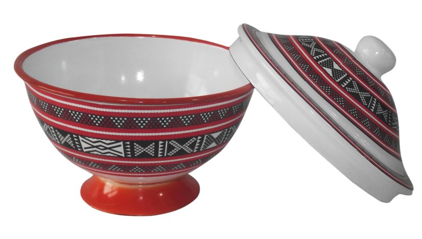Enamel finger bowl with full design to Kuwait