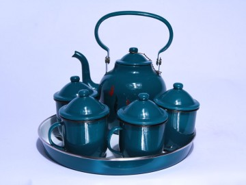 China factory produce enamel middeast kettle set