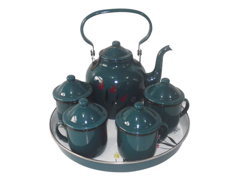 China factory produce enamel middeast kettle set to middeast country