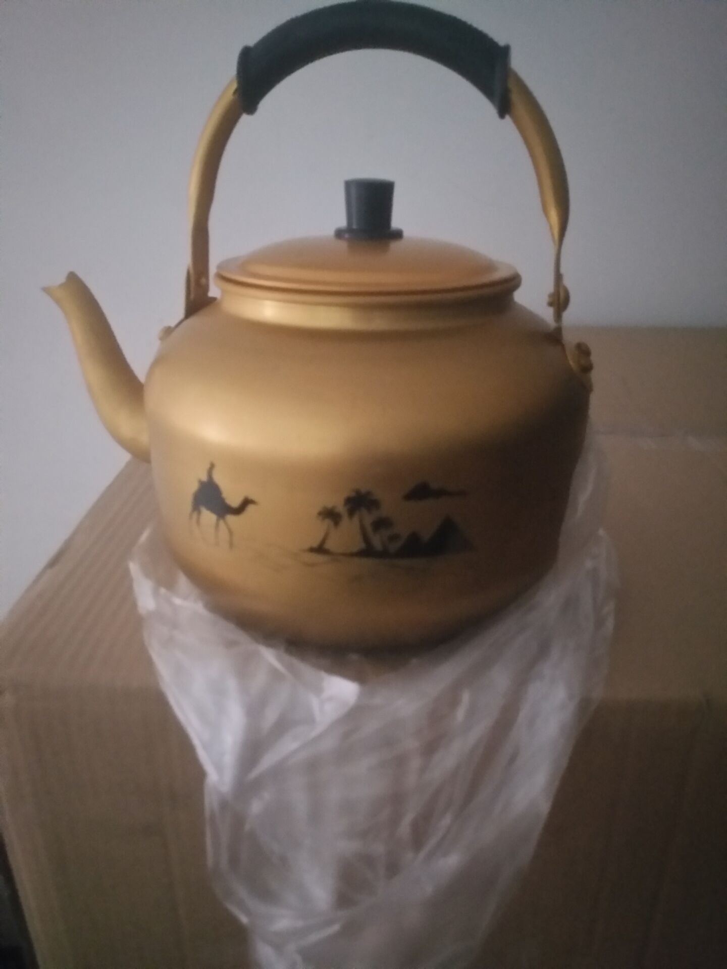 aluminium yellow kettle  to Saudi Ariabria