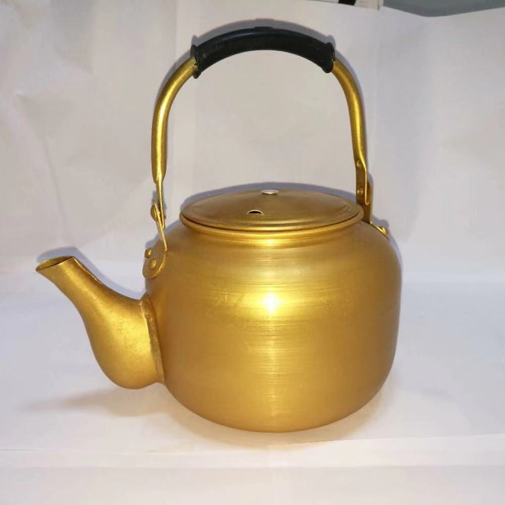 aluminium yellow kettle with weld  mouth
