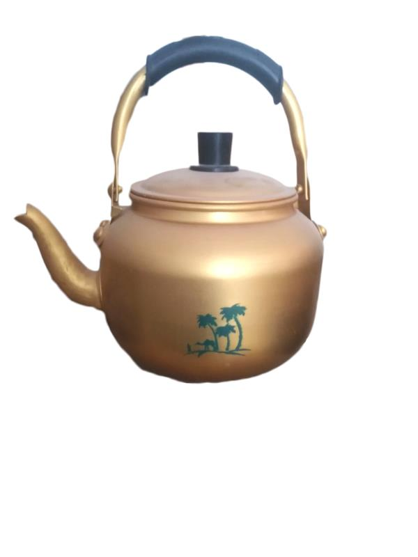 aluminium yellow kettle