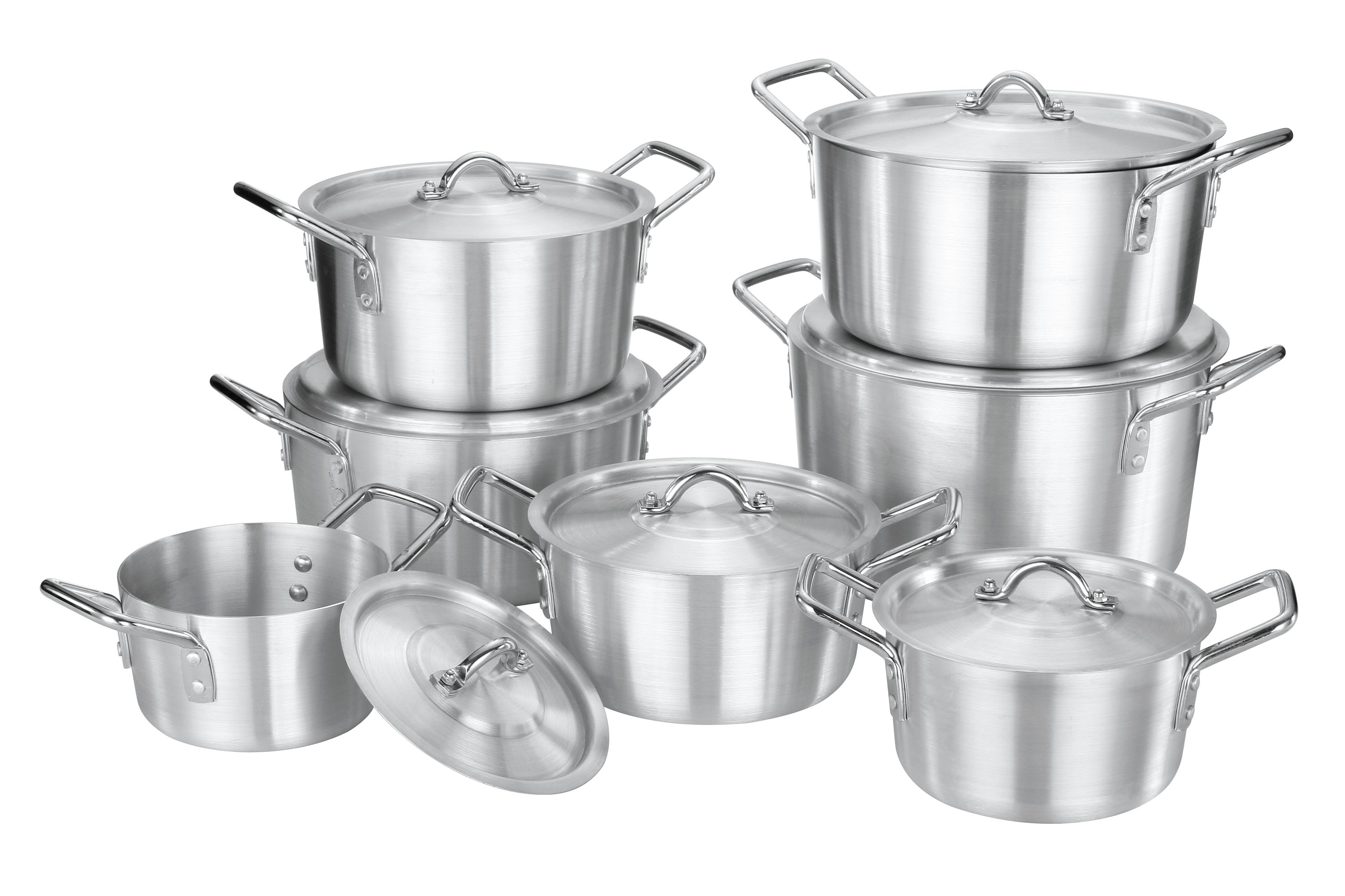 7pcs aluminium pot from china factory to middeast and africa