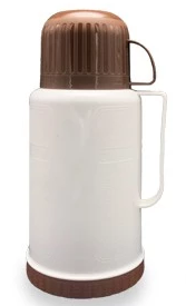 1.0L/1.2L/1.8L plastic vacuum flask with two cup