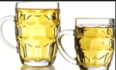 Beer Drinking Glass Mug With Handle 500ml Shot Glasses Drinking Glass Water Cup