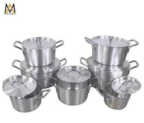 good quality and cheaper price 14-26cm aluminum sand polished pot to africa