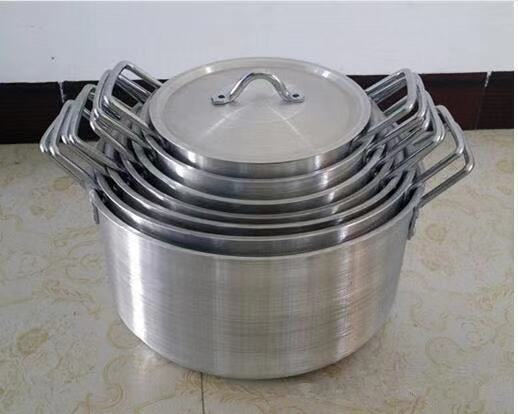 7pc aluminium pot good quality and cheaper price 14-26cm aluminum sand polished pot to africa