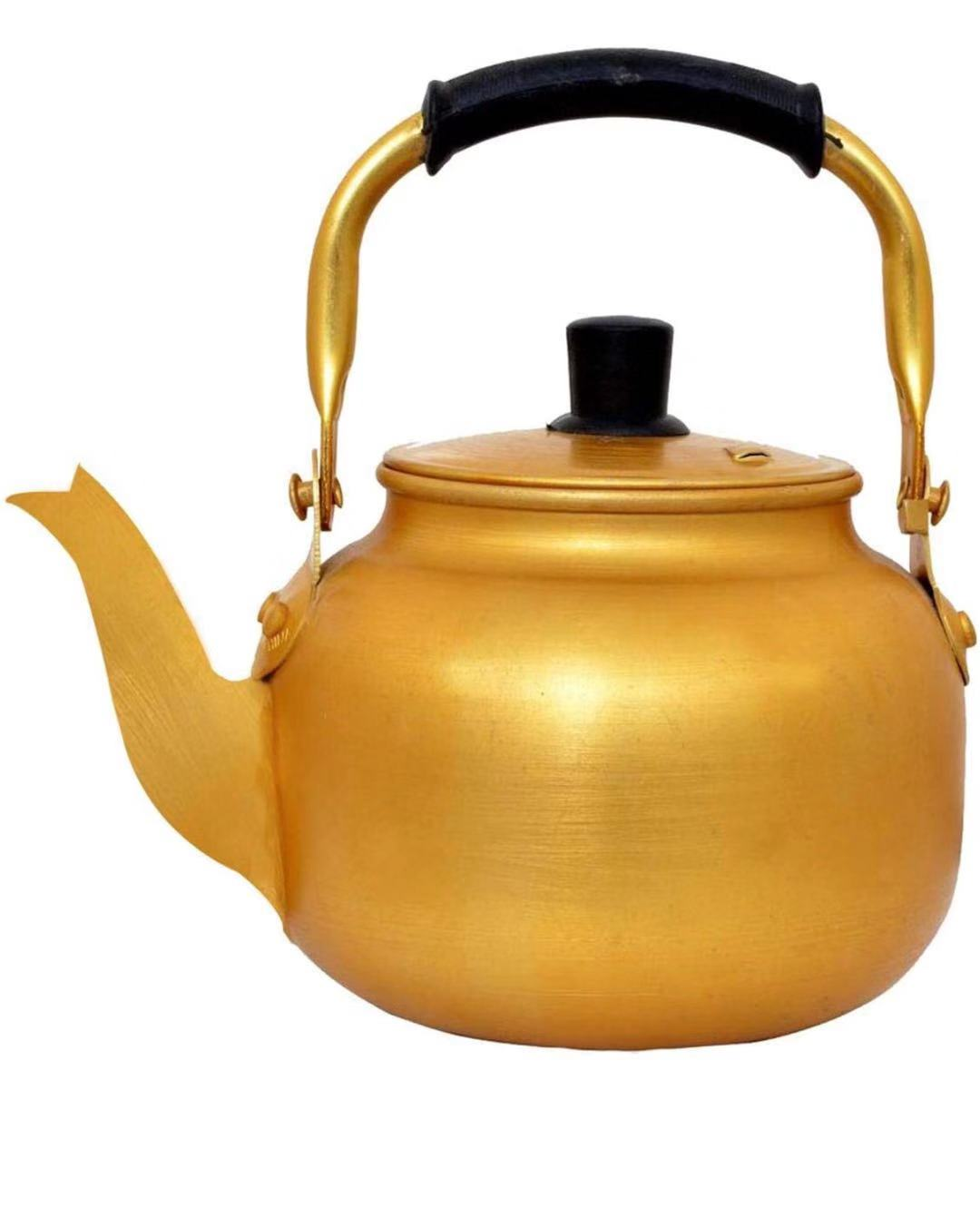 2.0L aluminum yellow kettle insert mouth stove top kettle