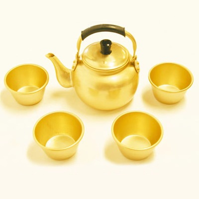 2.0L Aluminum Yellow Tea Kettle